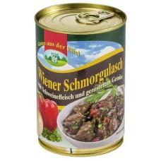 Венское рагу со свининой и жареными овощами