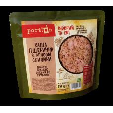 Каша пшеничная с мясом свинины